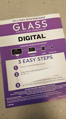 Glass UHD Digital Movie Only Samuel Jackson Bruce Willis