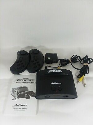 SEGA Genesis Classic Game Console w/2 Wireless 6-Button Controllers  euc