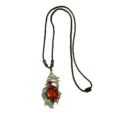 Antique Handmade Alloy Leaf Necklace Sweater Chain Jewelry Cute Classic Luxury