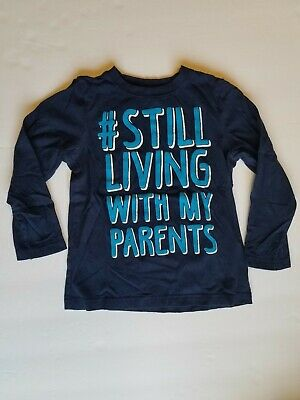 Okie dokie long sleeve navy boys shirt size 4T #still living with my parents