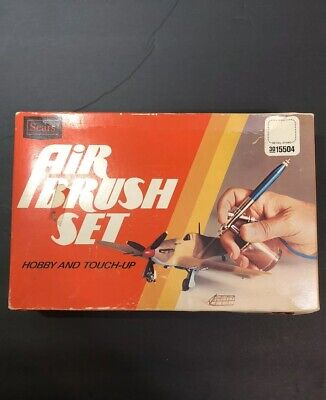 Vntg Complete Sears Professional Air-Brush Set w/ Hardware & Instructions
