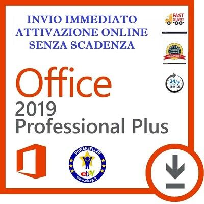 Microsoft Office 2019 Professional Pro Plus 32/64 Bit Licenza Key Esd Italiano