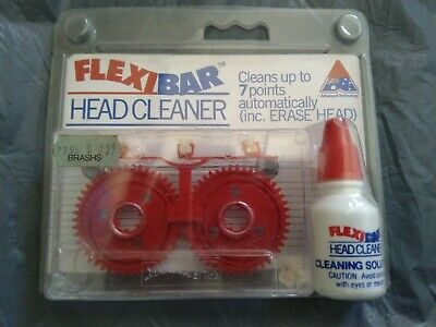 Audio Tape Cassette Head Cleaner with Cleaning Fluids