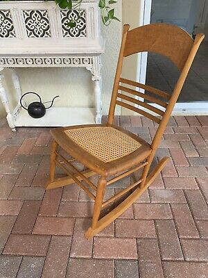 Rocking Chair Vintage Antique Bird's Eye Maple Small Size/Childs