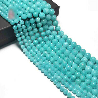 12mm Natural Amazonite Loose Beads Making Jewelry 15 inches Strand Top Opaque