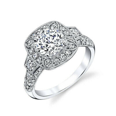 Classic Women 925 Silver Wedding Rings Round Cut White Sapphire Ring Size 8