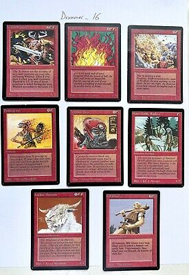 MTG - BETA - Lot of 8 Cards - Red