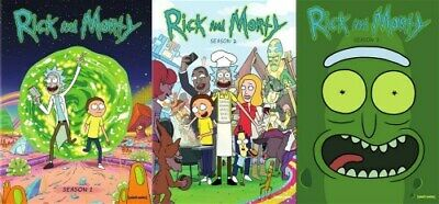 RICK AND MORTY TV SERIES COMPLETE SEASONS 1 - 3 New Sealed DVD 1 2 3