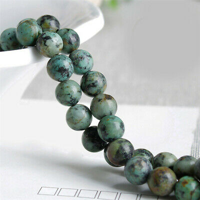 4-12mm Natural African Turquoise Loose Beads Diy Accessories Charm Spacer Top