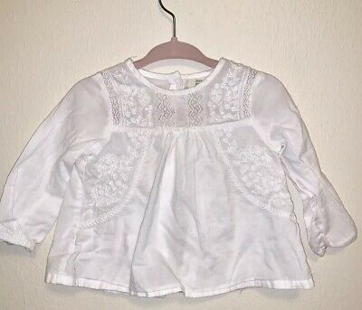 a3ea52d3cf TODDLER GIRLS ZARA Baby Girl Collection White Embroidered Blouse Top ...