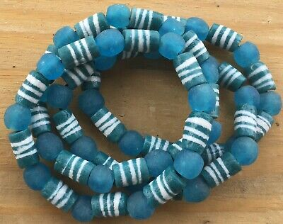Handmade Ghana Fancy Teal Green multi bracelet-African Trade Beads-Ghana