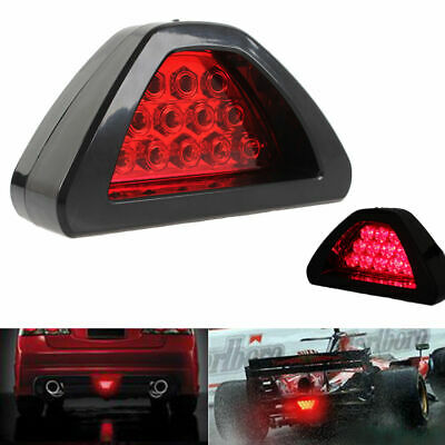 Universal F1 Style 12 LED Red Rear Tail Third Brake Stop Light Safety Lamp