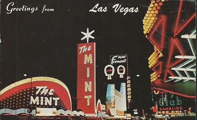 Greetings from  Las Vegas Nevada The Mint Casino Fremont Hotel Postcard