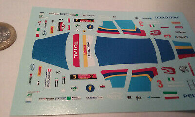 decals decalcomanie deco peugeot 208 rally vallé due valli 2014  1/43