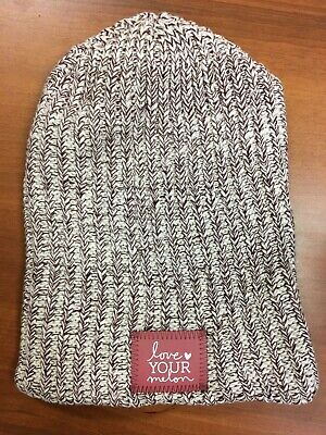 bb6a9cf9c LOVE YOUR MELON LYM Red Green Speckled Winter Beanie Hat Cotton USA ...