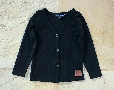 Beau Hudson Baby Boy Sz 3-6 Months, Black Cardigan, New Without Tags.