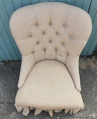 Antique Deep Upholstered Nursing/ Bedroom Chair