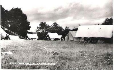 West Hoathly, W Sussex - Blackland Farm, camp site - Friths RP postcard c.1960s