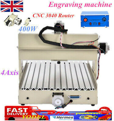 CNC3040 4Axis Router Engraver Desktop Engraving Milling Machine DIY For PVC Wood