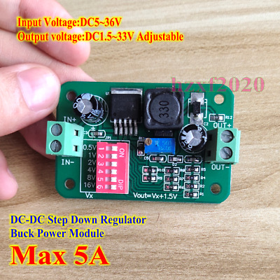 DC-DC 5V-36V 12V 5V to 1.5V-33V 3A Step down Buck Power Regula Module Converter
