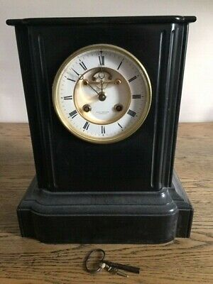 Ball and Edwards Antique Black Slate Clock