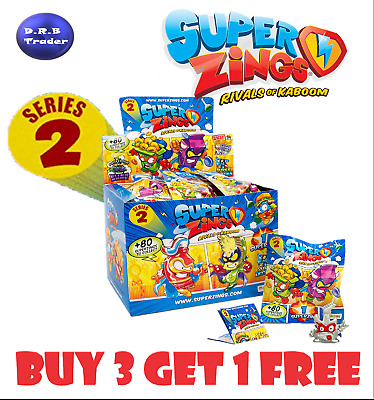 SUPERZINGS BNIB series 2 rare GOLD, SILVER *PICK YOUR OWN* *BUY 3 GET 1 FREE*
