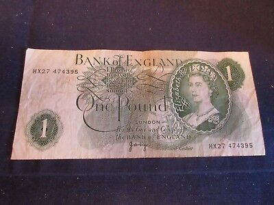 GB 1960-64 ISSUE - £1 - J.B. PAGE, P374g - HX27 474395 - FROM CIRCULATION