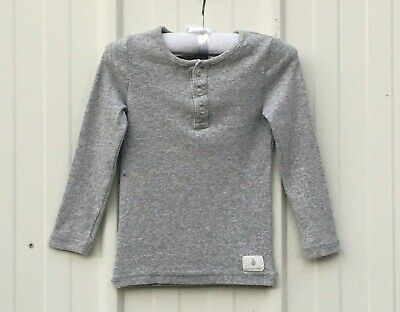 Country Road Baby Boys Size 12/18 Months Gray Long Sleeve Top, Ex. Con.