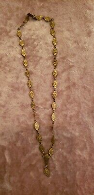 Antique Vintage Necklace Art Nouveau/Art Deco/Victorian? Gold Tone