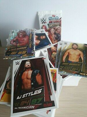 WWE Slam Attax Universe job lot ALL DIFFERENT 25-150 card bundle inc CHAMPION