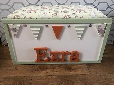 Personalised Toy Box/Storage Box With Seat