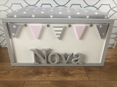 Personalised Toy Box/Storage Box With Seat, Ideal Birthday Gift