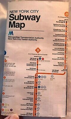 1987 Mta Nyct Subway Map.Vtg May 1987 Nyc New York City Subway Map Pocket Mta Guide New