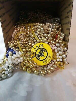 Mardi Gras Beads Necklaces lot  New Orleans 5  pounds assorted.  A21