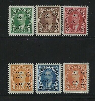Canada - #O231-#O236 - King George Vi Mufti Issue Mint Stamps (1937) Mh