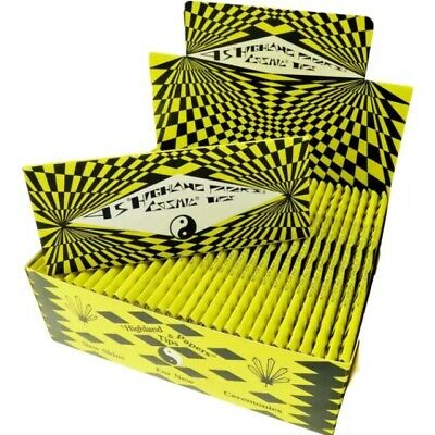Highland Cosmic Rolling Papers & Tips Full Box same as Double Decadence skins
