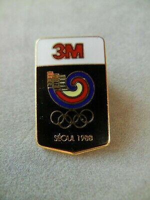 Seoul Summer Olympics 1988 Pin Badge 3M ** EXCELLENT CONDITION **