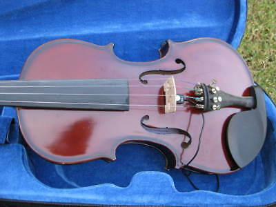 New Acoustic/electric 4/4 Adult Size Violin/fiddle  Dark Maple-German