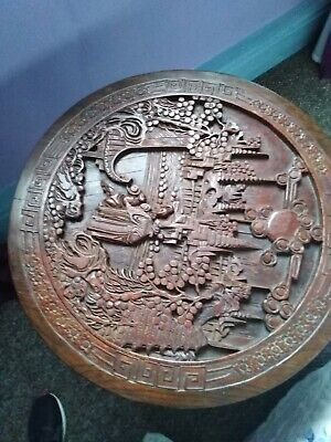 Beautifully carved Antique Chinese design occasional table/fireguard