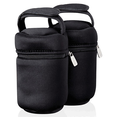 Tommee Tippee Insulated Baby Feeding Bottle Bag, Pack Of 2 Thermal Travel Warmer
