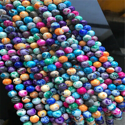 8-12mm Natural Round Fire Agate Loose Beads Diy Accessories Spacer Handmade