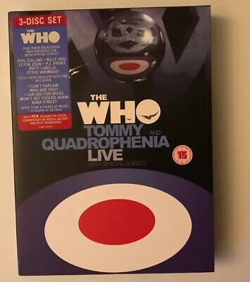 "The Who "" Tommy and Quadrophenia Live "" 3 DVD Box Set Rhino Rec. 2005 New $"