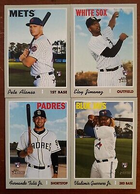 2019 Topps Heritage High Number COMPLETE SET CARDS 501-700 Tatis Guerrero RC ++