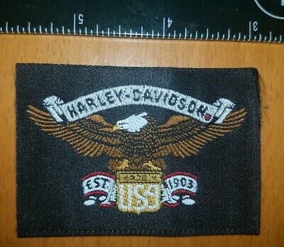 New Harley-Davidson Motorcycles Usa Est 1903 Fabric Tag Patch Badge Embroidered