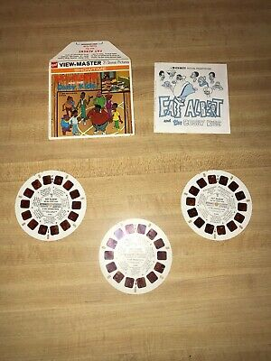 Vintage 1972 Fat Albert And The Cosby Kids (B554) ViewMaster 3 Reel Set!