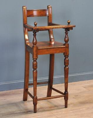 Attractive Tall Antique Victorian Mahogany Childs High Chair