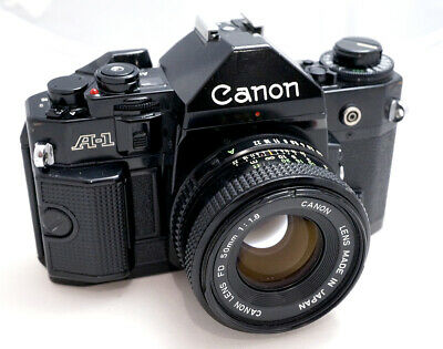 Canon A-1 with Canon FD 50/1.8               In excellent condition, like new!!!