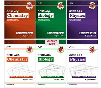 Higher Gcse Aqa Separate Science Biology Chemistry Physics Workbook & Revision