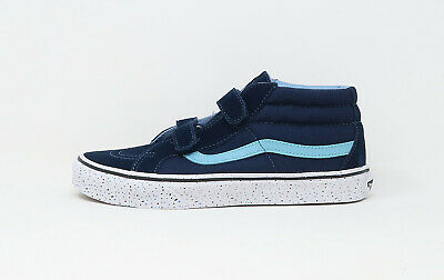 Vans Kids Children Youths Girls Boys Shoes SK-8 Mid Reissue V Straps Navy Blue