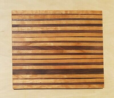 Handmade wooden CUTTING board Walnut and Cherry wood Charcuterie made in USA